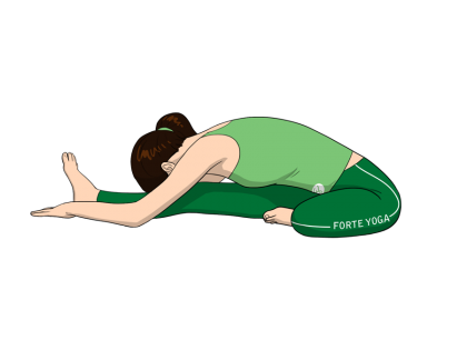 Head to Knee Forward Bend Yoga Pose