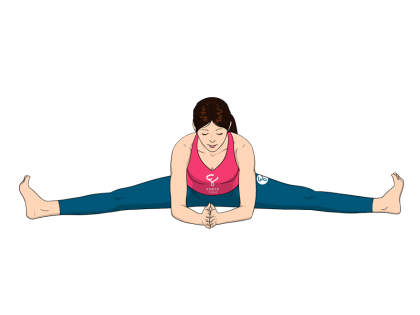 Wide Angle Seated Forward Bend Yoga Pose