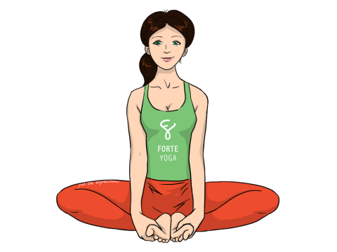 Bound Angle Yoga Pose