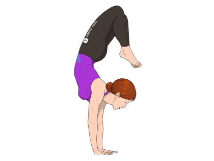 Arm Balance Scorpion Yoga Pose