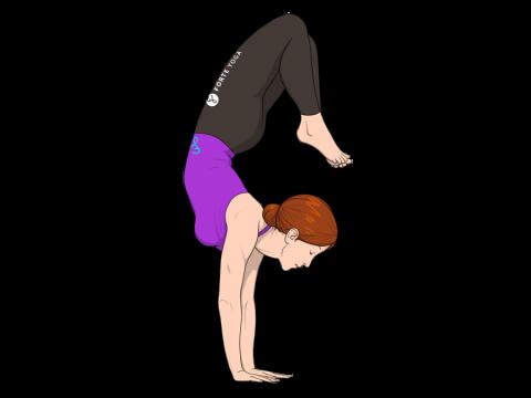 Arm Balance Scorpion Yoga Pose
