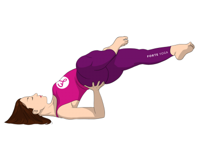 Half Lotus Side Shoulderstand Yoga Pose