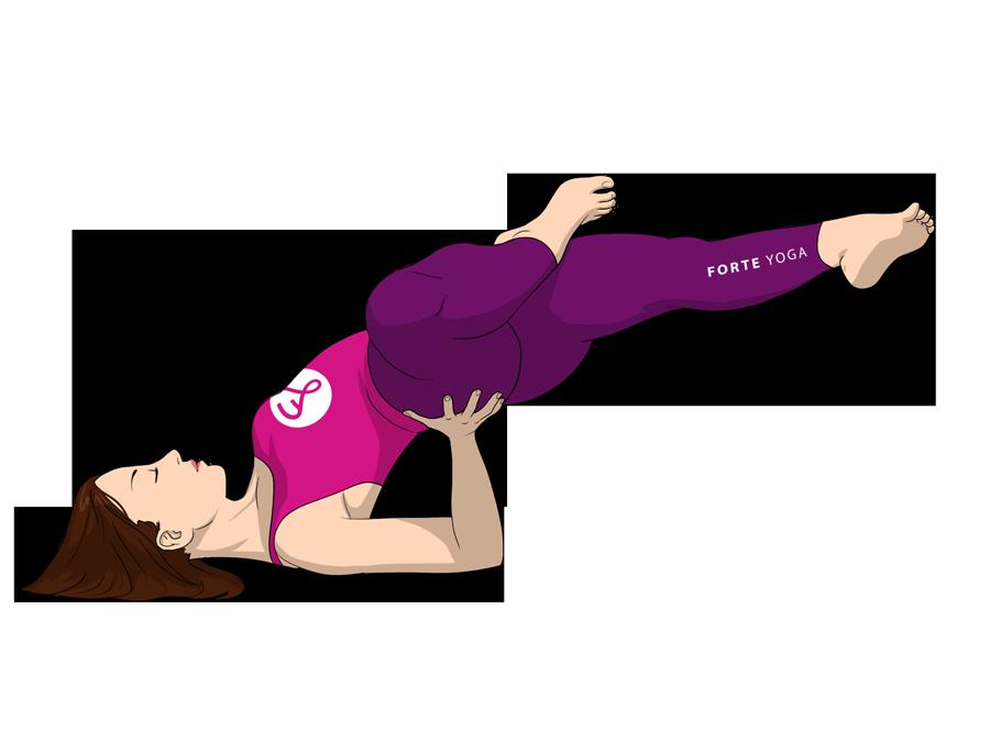 Half Lotus Side Shoulderstand Yoga Pose Forte Yoga