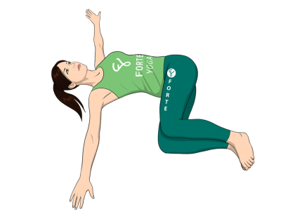 Half Revolved Belly Yoga Pose
