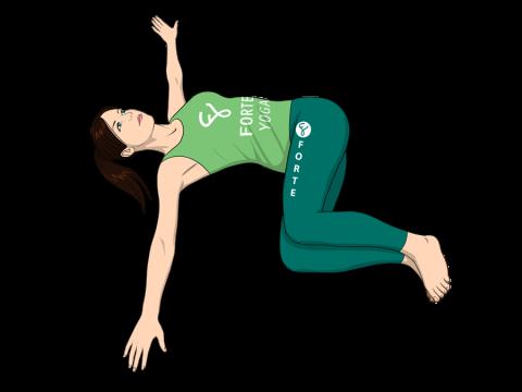 Half Revolved Belly Yoga Pose