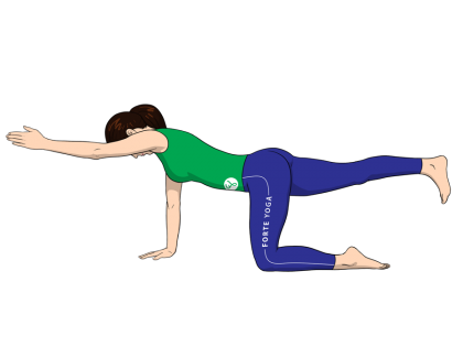 Hands and Knees Balance Yoga Pose