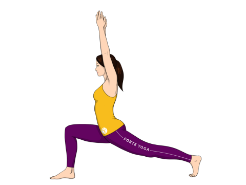 High Lunge Yoga Pose