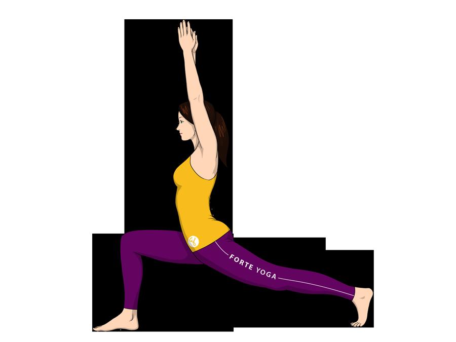 High Lunge Yoga Pose - Forte Yoga