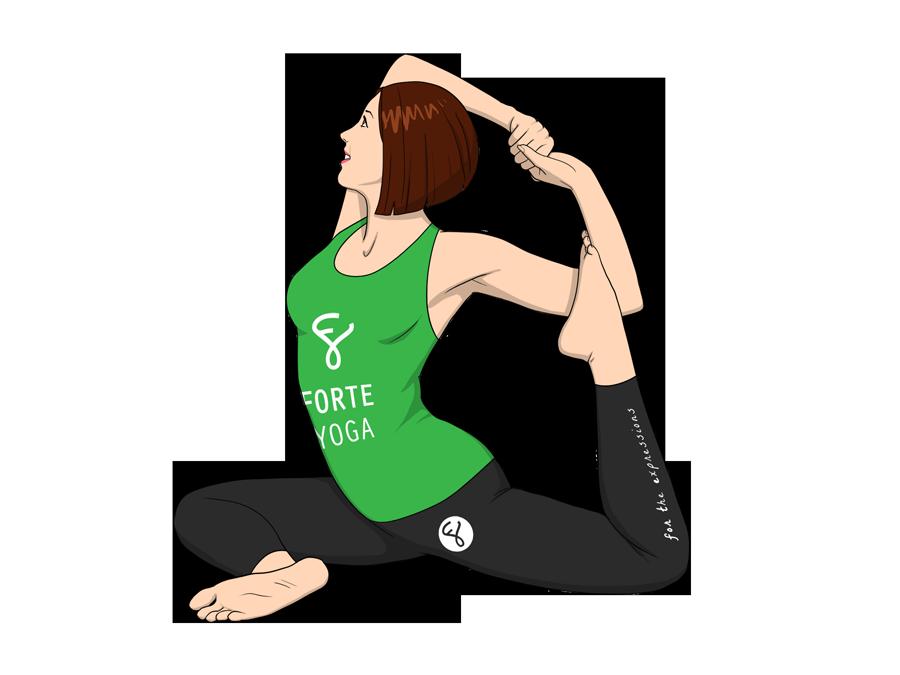 Mermaid Yoga Pose Forte Yoga