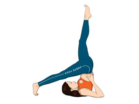 One Leg Supported Shoulderstand Yoga Pose