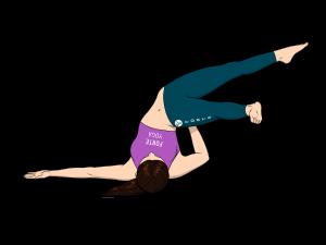 Open Leg Side Shoulderstand Yoga Pose