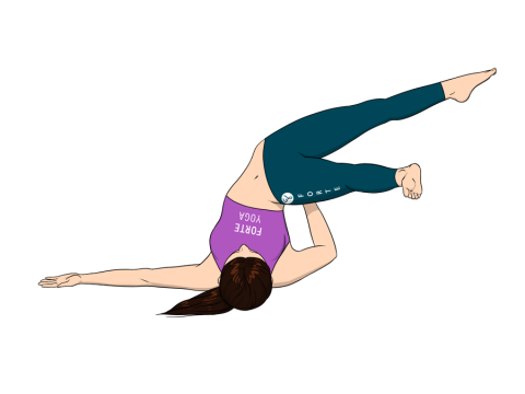 Open Leg Side Shoulderstand Yoga Pose