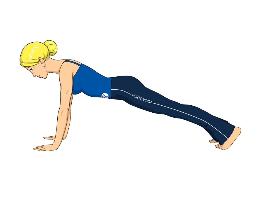 Plank yoga pose is an arm balance pose that targets the biceps and