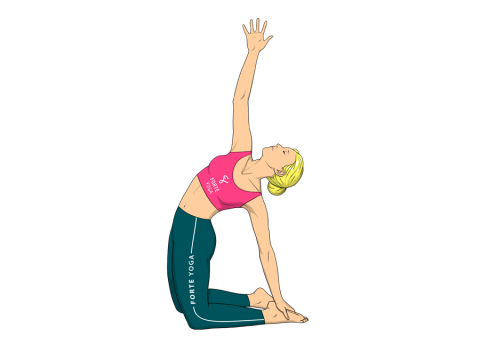 Revolved Camel Yoga Pose