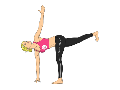 Revolved Half Moon Yoga Pose