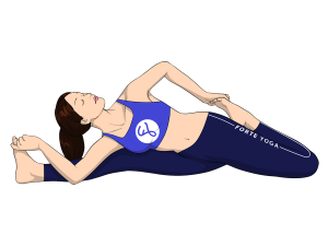 Revolved Knee to Head IV Yoga Pose