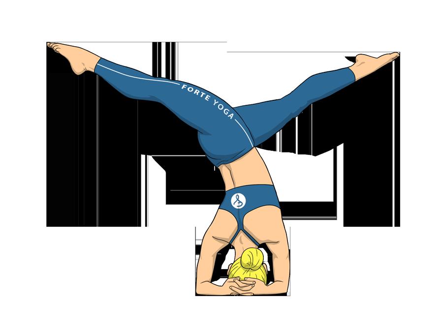 Revolved Split Legged Headstand Yoga Pose Forte Yoga