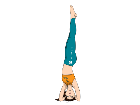 Side Headstand Yoga Pose