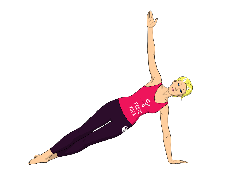 Side Plank Yoga Pose - Forte Yoga