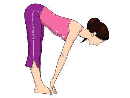 Standing Half Forward Bend Yoga Pose