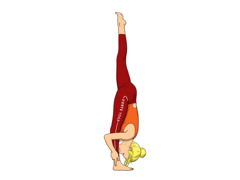 Standing Split Yoga Pose