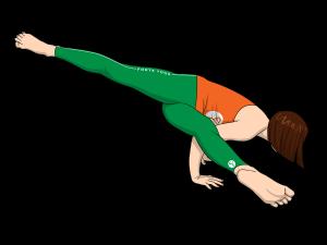 Twisted One Legged Arm Balance Yoga Pose