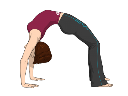 Upward Bow Yoga Pose or Wheel Pose
