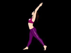 Upward Crescent Moon Yoga Pose