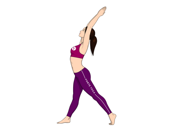 Upward Crescent Moon Yoga Pose