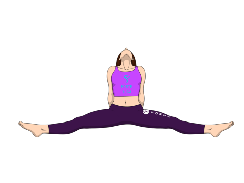 Upward Facing Seated Angle Yoga Pose