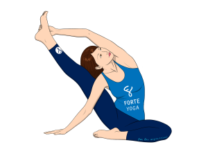 Upward Revolved Knee to Head Yoga Pose