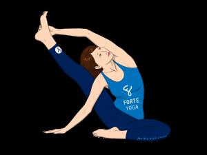 Upward Revolved Knee to Head Yoga Pose
