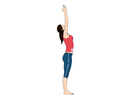 Upward Salute Yoga Pose