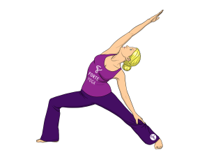 Upward Warrior II Yoga Pose