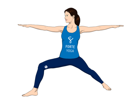 Warrior II Yoga Pose