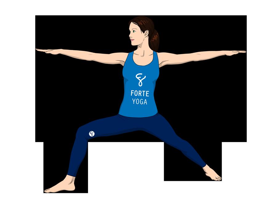 Warrior II Yoga Pose - Forte Yoga  Warrior II Yoga...