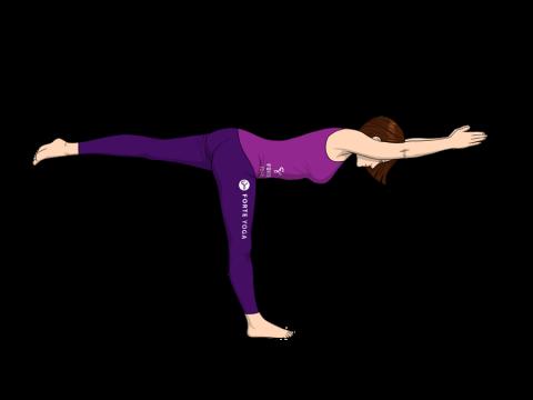Warrior III Yoga Pose