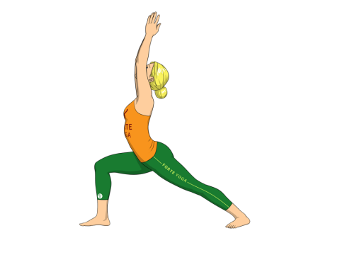 Warrior I Yoga Pose