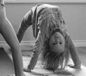 Girl Doing Back Bend